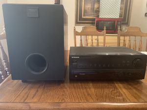 Vintage 1996 Pioneer VSX - 455 Dolby Pro Logic 5.1 Surround Sound Audio/Video Stereo Receiver & Pioneer HTP 300-SW subwoofer. for Sale in Atascocita, TX