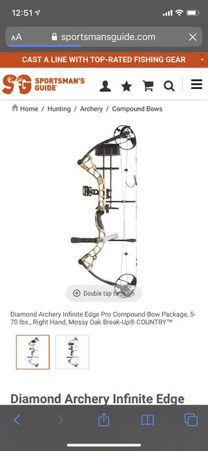 Diamond Infinite Edge Bow for Sale in Amarillo, TX