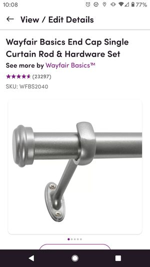 Wayfair silver curtain rods-brand new for Sale in Gaithersburg, MD