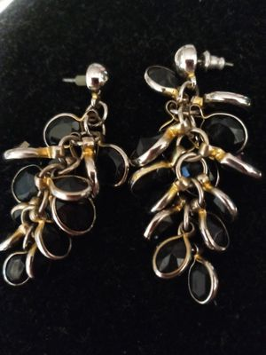 Black and gold dangling pierced earrings for Sale in NEW PRT RCHY, FL
