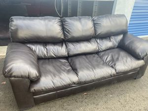 Black Faux leather Sofa (DELIVERY INCLUDED) for Sale in Beaverton, OR