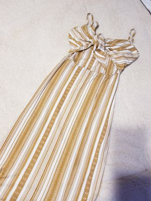 Long yellow dress with bottom open slit for Sale in Dallas, TX