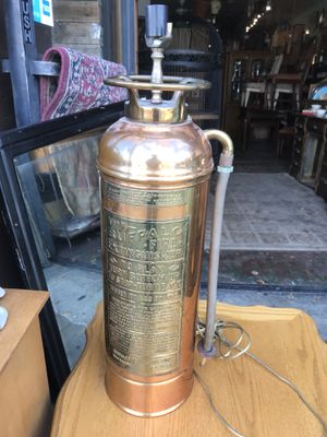 Fire hydrant vintage copper brass lamp man cave for Sale in San Diego, CA