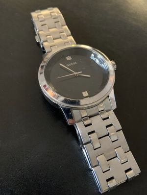GUESS Stainless Steel Black Dial Watch U11576G1 for Sale in Jackson Township, NJ
