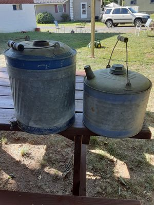 2 vintage metal fuel cans for Sale in Northumberland, PA