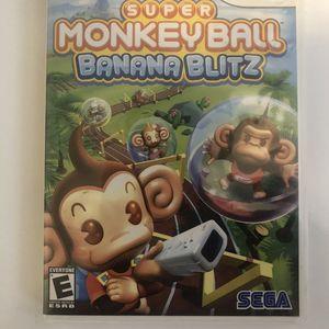 Nintendo Wii Game - Super Monkey Ball Banana Blitz for Sale in Glendale, AZ