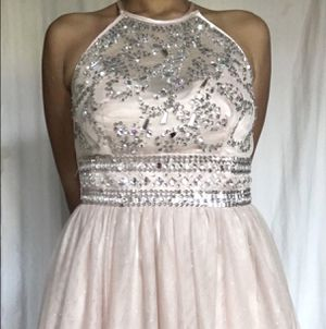 Pink and silver beading prom dress for Sale in New Orleans, LA