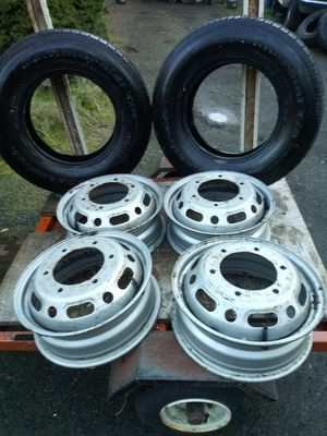 Sprinter Wheels wth 2 old tires $100 OBO for Sale in Tumwater, WA