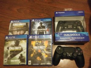 PlayStation, 2 controllers, headset, 12 month subscription, and a couple of vidoogames for Sale in El Monte, CA