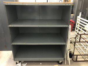 Commercial grade metal shelving on casters for Sale in Deerfield Beach, FL