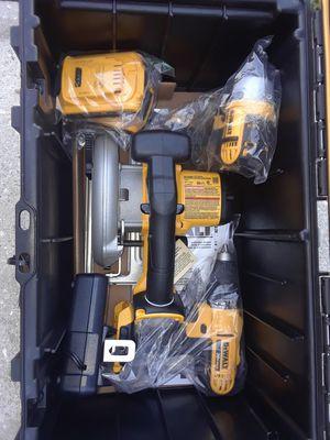Sarasota 34239 DeWalt tough case 20 volt Max tool kit with circular saw impact driver drill and Extras for Sale in Sarasota, FL