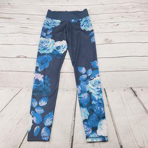 Adidas Pants Sz XS Climalite Active Leggings Yoga Workout Gym Floral Flower Measurements In Description for Sale in Los Angeles, CA