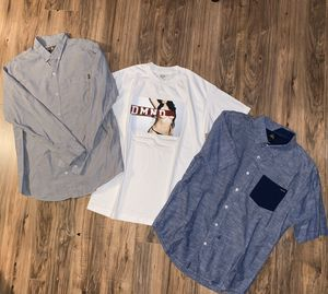 MENS MEDIUM BUTTON UP SHIRTS AND NEW MENS MEDIUM DIAMOND SUPPLY CO T SHIRT for Sale in Westminster, CA