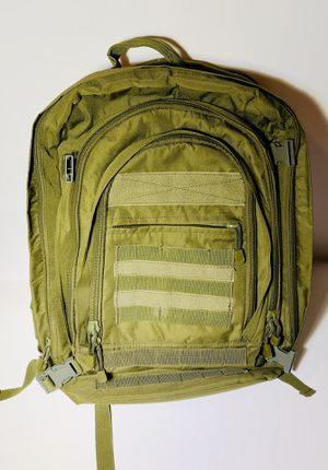Army Green Military Tactical Backpack Laptop Hiking Day Gear Bag - Multi Pocket for Sale in Brooklyn, NY