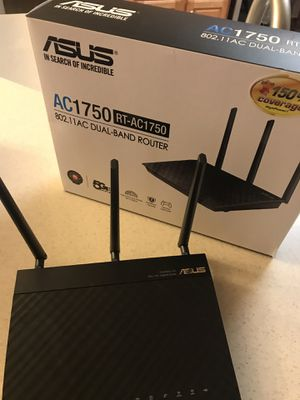 Asus WiFi router AC1750 RT-AC1750 for Sale in Charlotte, NC