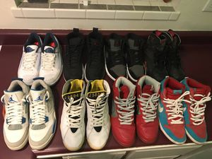 Jordan's and dunk sb 9-11 for Sale in Denver, CO