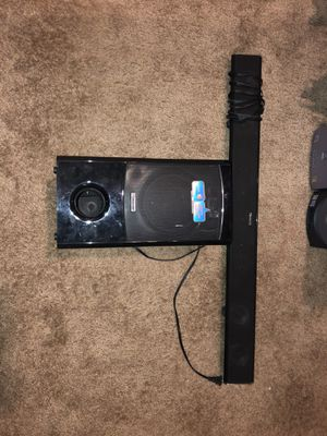 Sound bar with bass for Sale in Las Vegas, NV