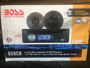 Boss stereo system for Sale in Grand Terrace, CA