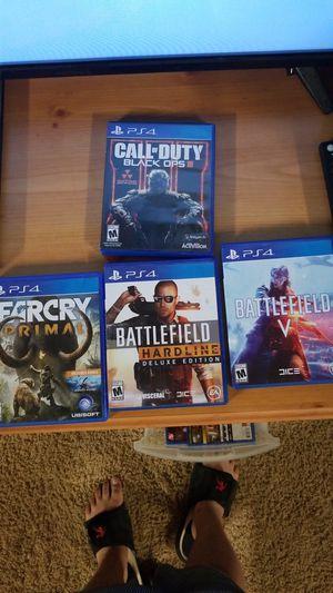Battlefeild 5, Battlefeild Hardline Deluxe Edetion, Farcry Prymal, Call of Duty Black Ops 3 for Sale in Anchorage, AK
