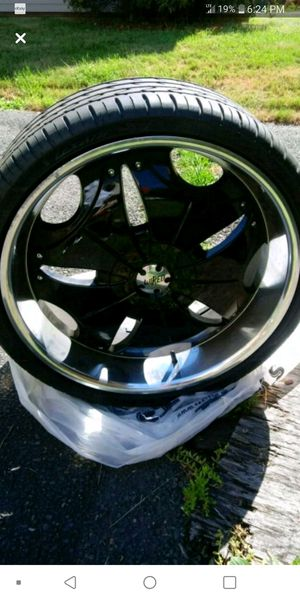 22 inch rims & tires for Sale in Hartford, CT