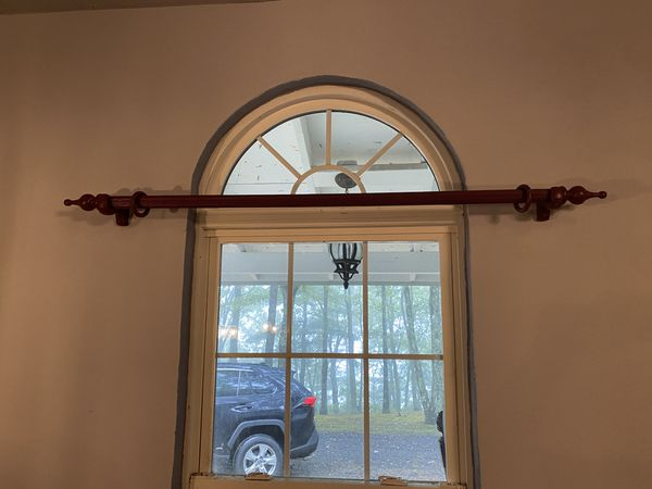 Drapes curtains and Bars with hanger hooks