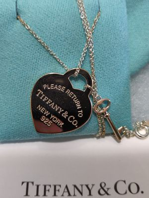 Tiffany heart that with key pendant for Sale in Gardena, CA