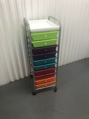 Colorful Art Storage Tray Cart on Wheels for Sale in Tampa, FL