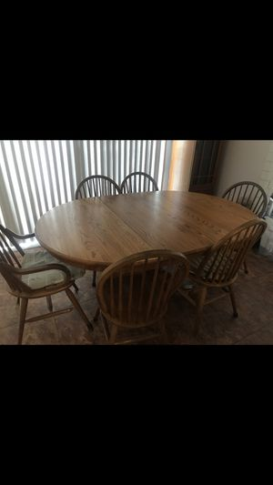 Beautiful antique dining table& (6) chairs $$80 for Sale in Westminster, CA