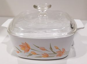 Corning Ware Peach Floral Qt Covered Casserole A-1 1/2-B for Sale in Southlake, TX
