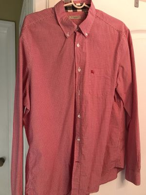 Red Burberry Button Down XL for Sale in Tampa, FL