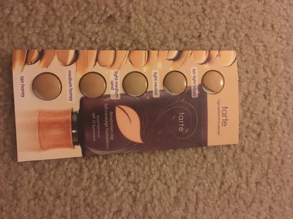 Brand New Tarte high performance clay play face palette and Tarte full coverage foundation color pack