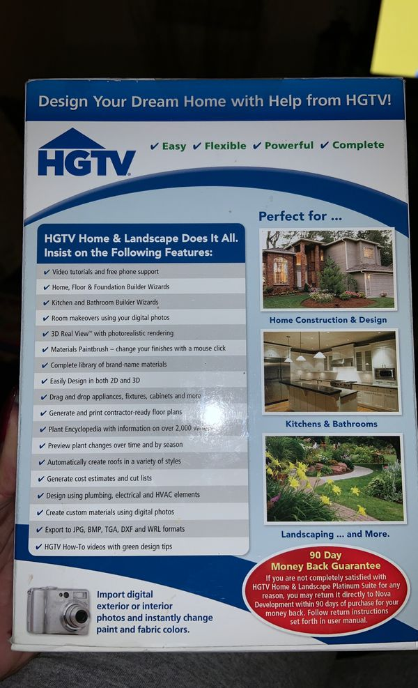 HGTV home and landscape platinum suite software program