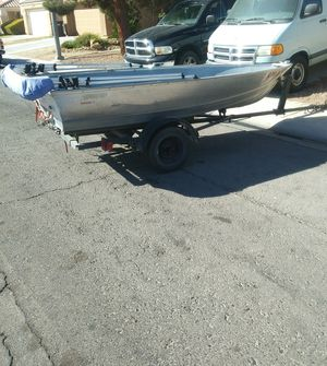 12 ft Aluminum Boat, Mercury Motor and Trailer for Sale in Las Vegas, NV
