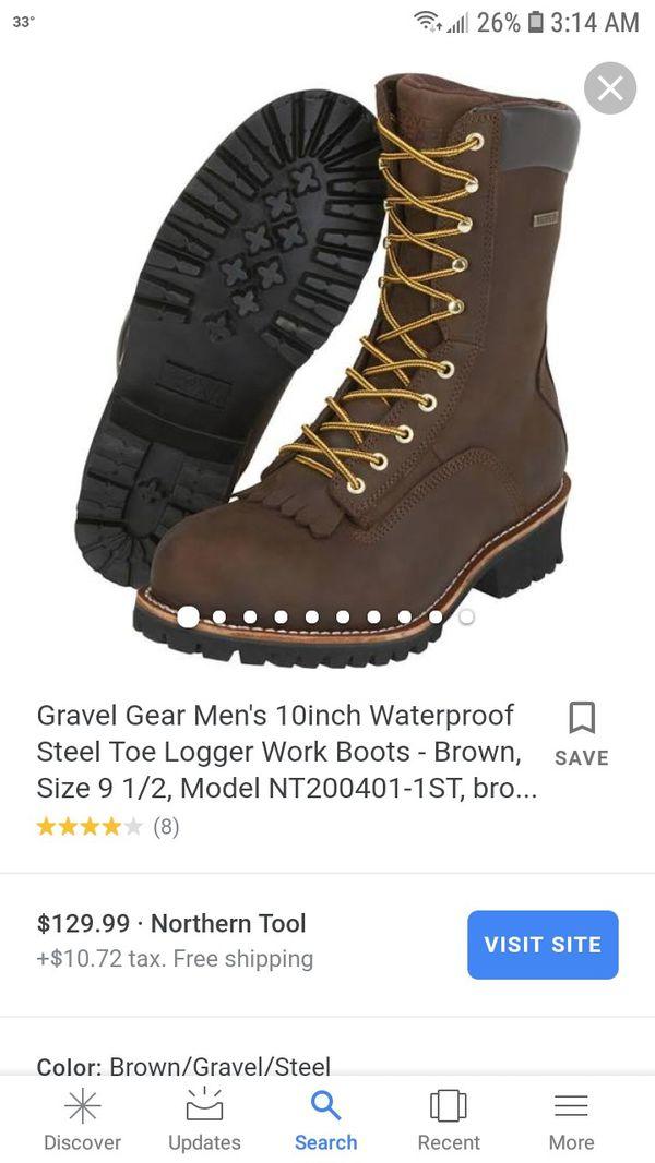 30cdfafb472 Gravel Gear Men's 10inch Waterproof Steel Toe Logger Work Boots for Sale in  Arlington, TX - OfferUp