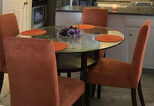 Glass dining table with chairs for Sale in Erie, PA