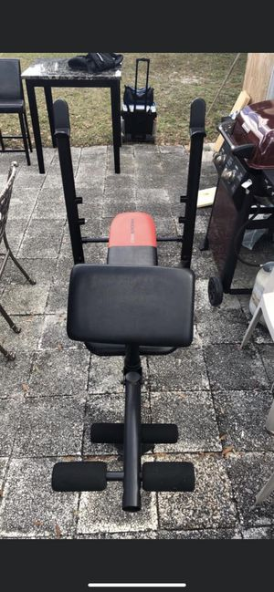 Weight Bench with weights for Sale in Tampa, FL