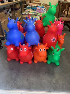 Toys Inflatable Hopper Animals With Music And Astigmatic Lights Bounching Pony Kids Jumping Ride Bouncer Animal @New high quality 1300g hold up160Ibs for Sale in Baldwin Park, CA