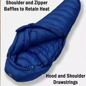 Hyke & Byke Snowmass 0 Degree F 650 Hydrophobic Sleeping Bag Blue Long $299 for Sale in Garden Grove, CA