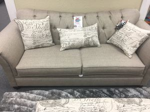 Sofa & love seat w/ tufting for Sale in Dallas, TX