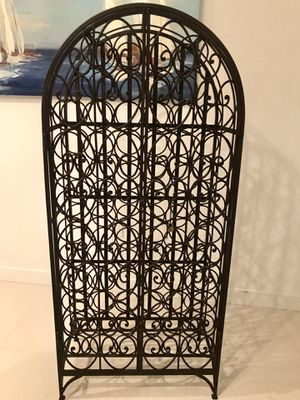68-Bottle Antique Iron Wine Rack for Sale in Miami, FL