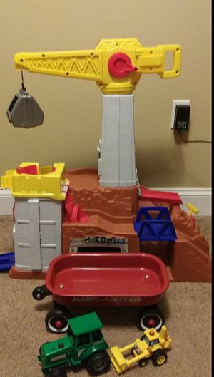 Free Playset Construction mine /Bob the Builder digger/ Farm truck/radio flyer wagon for Sale in Danvers, MA