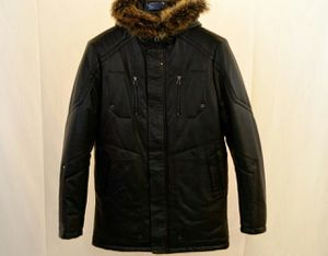 MEN LEATHER PARKA WITH HOOD for Sale in Hartford, CT