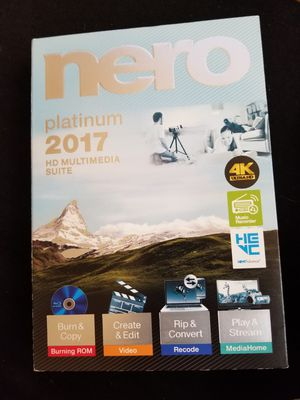 Nero platinum 2017 hd multimedia suite for Sale in Cleveland, OH