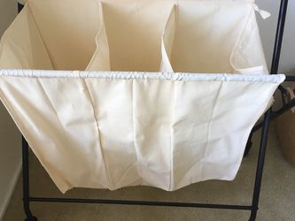 Laundry Bin 3 Compartment Folding With Wheels for Sale in Cupertino,  CA