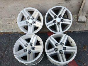 16x8 alloy wheels, original Chevy camaro IROC rims 5 on 4.75 for Sale in Montebello, CA
