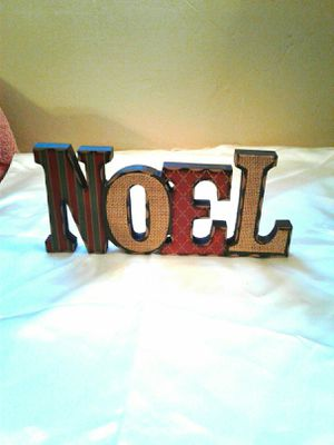 """Brand new wooden """"Noel """" tabletop sign decor for Sale in Colton, CA"""