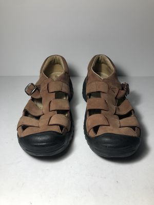 KEEN XT 1104 Brown Leather Hiking Fisherman Sandals Shoes Size 8.5 for Sale in San Leandro, CA