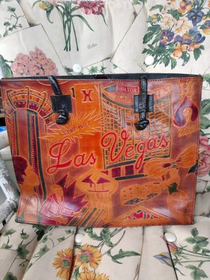 Vintage leather Las Vegas tote bag for Sale in Canonsburg, PA