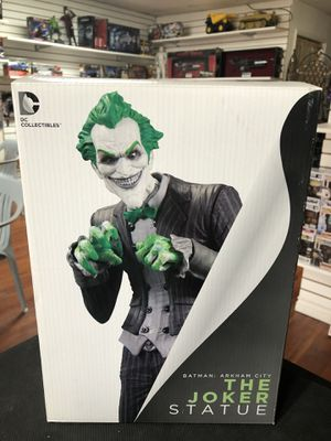 DC Collectibles Batman Arkham City The Joker Statue, Sculpted by Dave Cortes for Sale in Los Angeles, CA