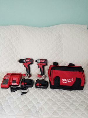 Milwaukee 2893-22CX M18 Brushless 2-Tool Impact Hammer drill Tool Kit NEW for Sale in Allen, TX